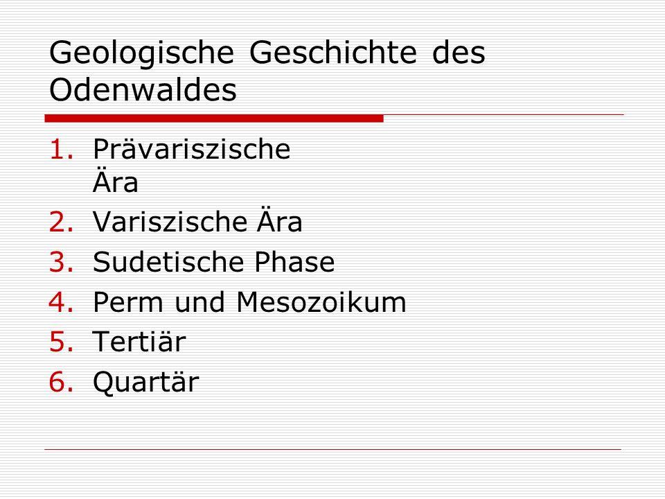 Geologische Geschichte des Odenwaldes
