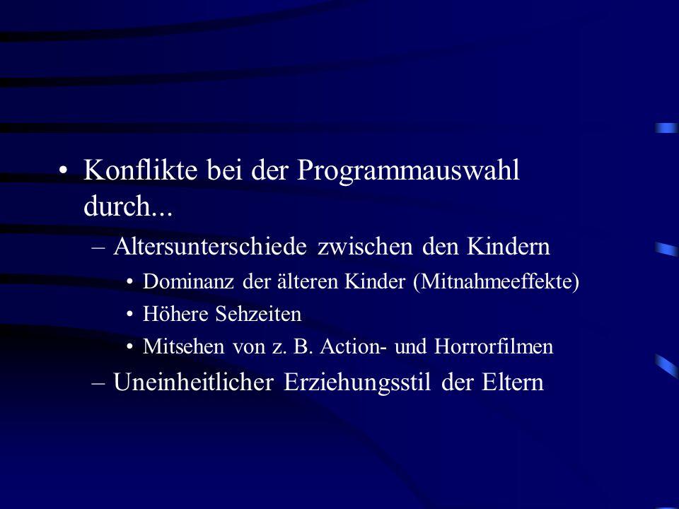Konflikte bei der Programmauswahl durch...