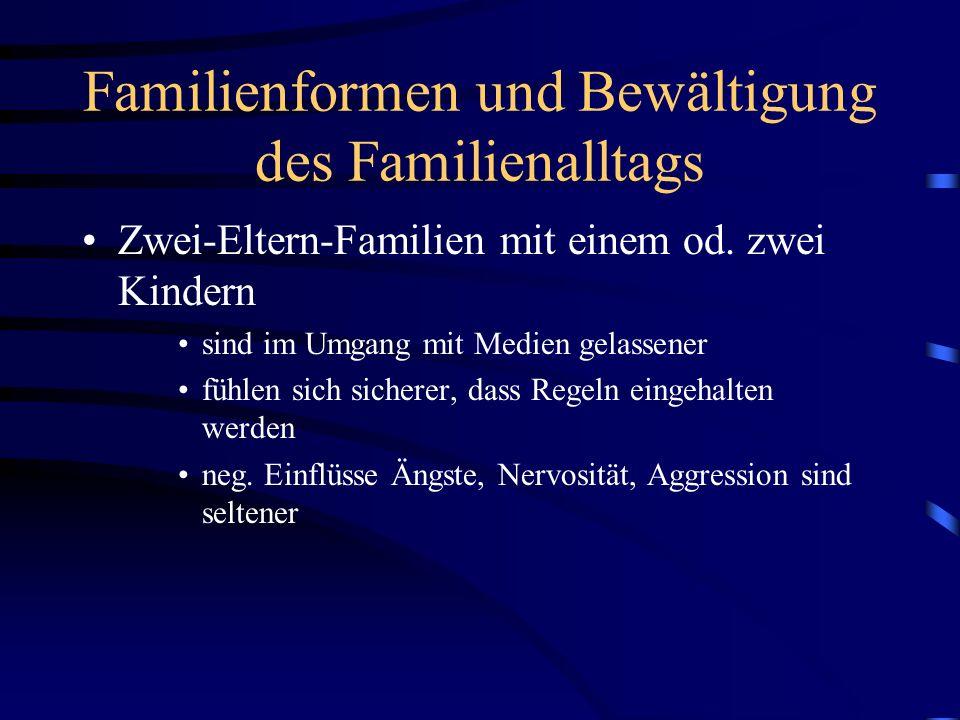 Familienformen und Bewältigung des Familienalltags