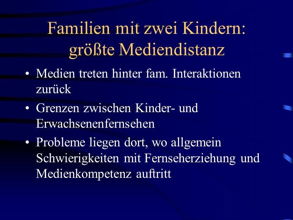 Familien mit zwei Kindern: größte Mediendistanz