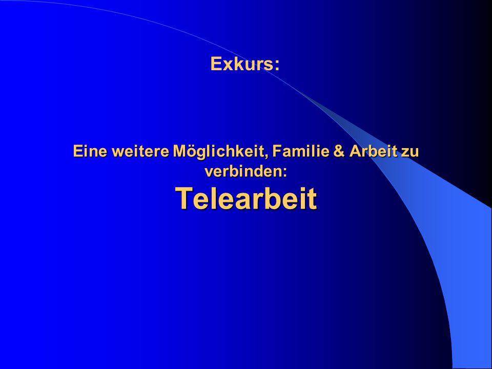 Eine weitere Möglichkeit, Familie & Arbeit zu verbinden: Telearbeit