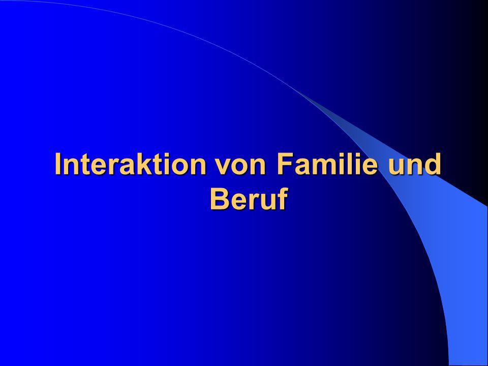 Interaktion von Familie und Beruf