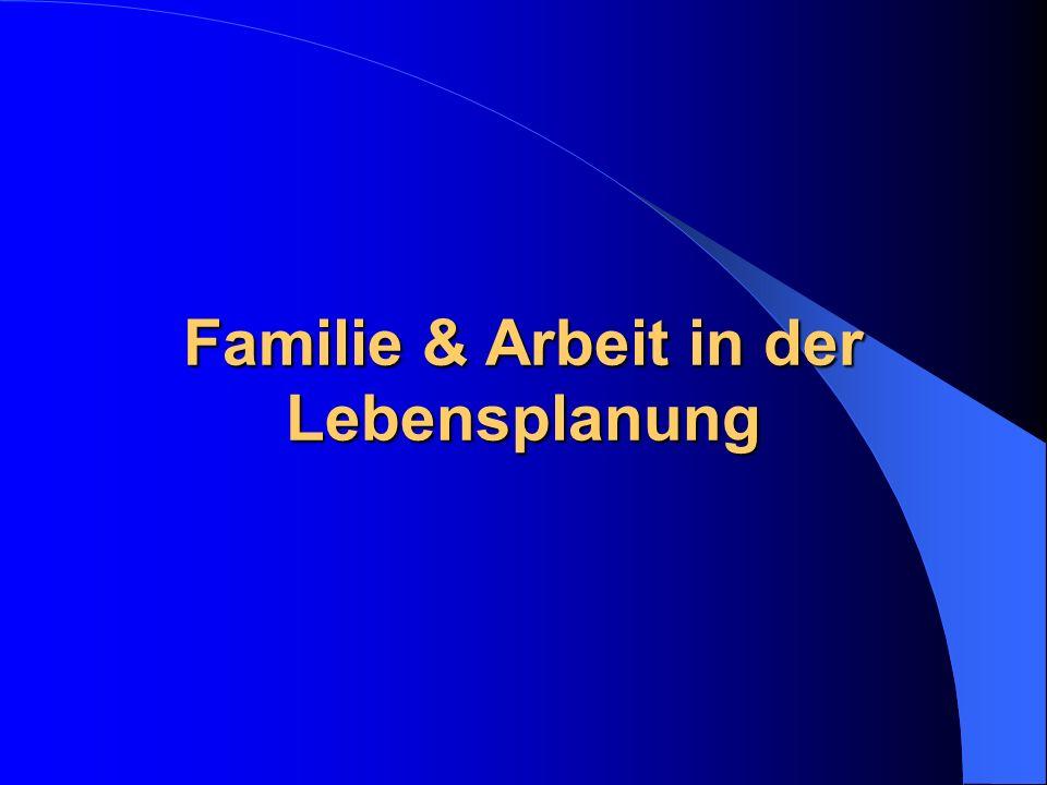 Familie & Arbeit in der Lebensplanung