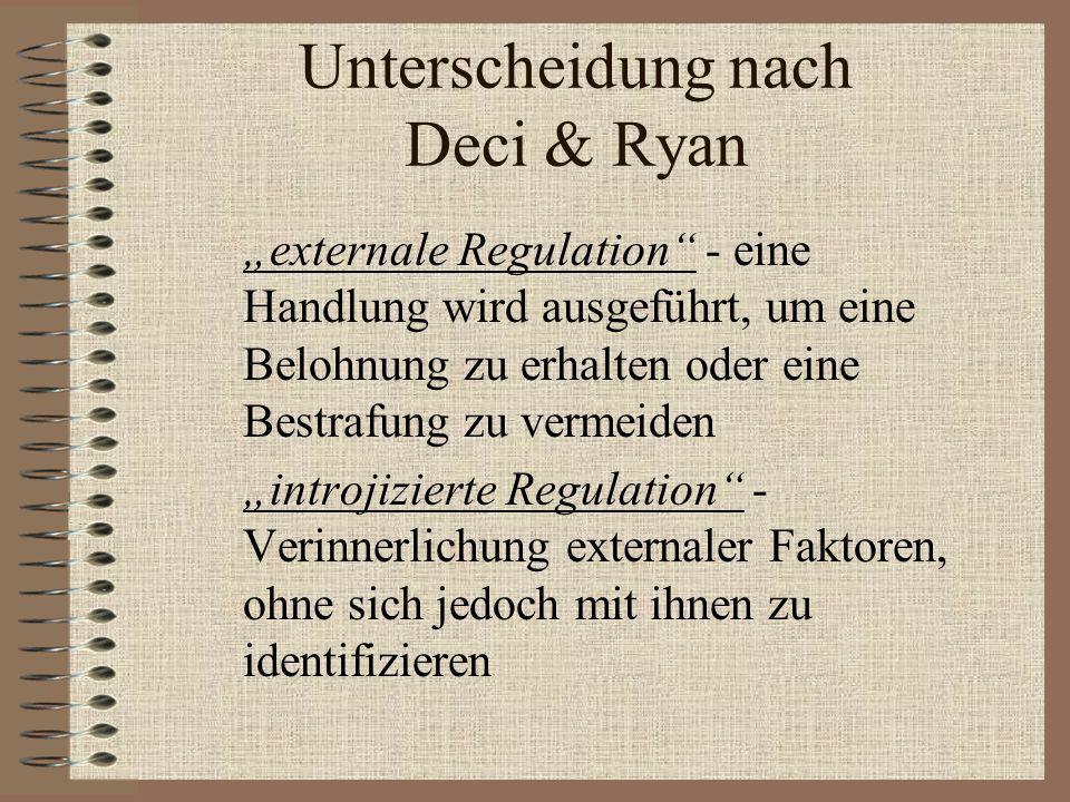 Unterscheidung nach Deci & Ryan