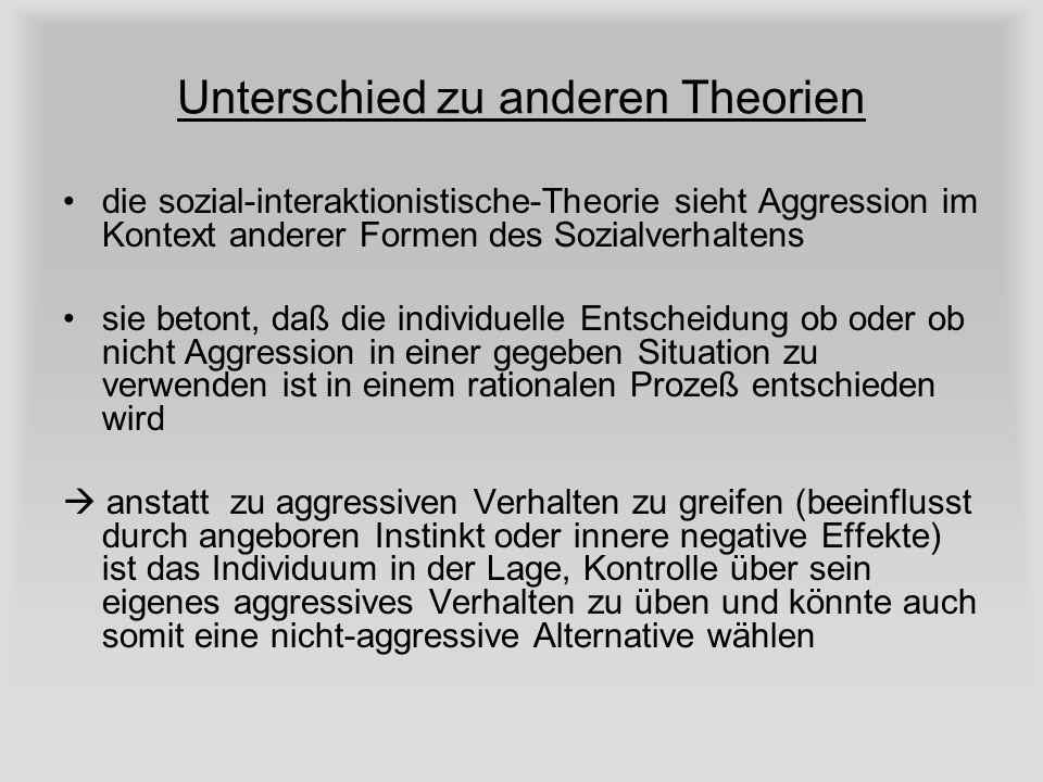 Unterschied zu anderen Theorien