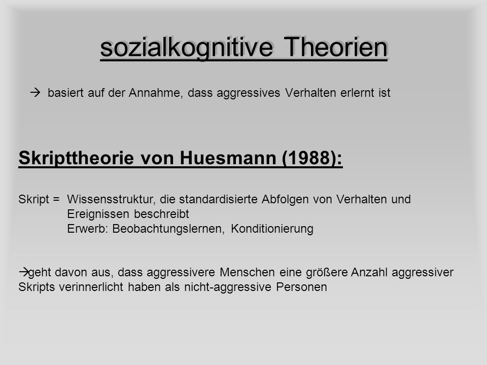 sozialkognitive Theorien