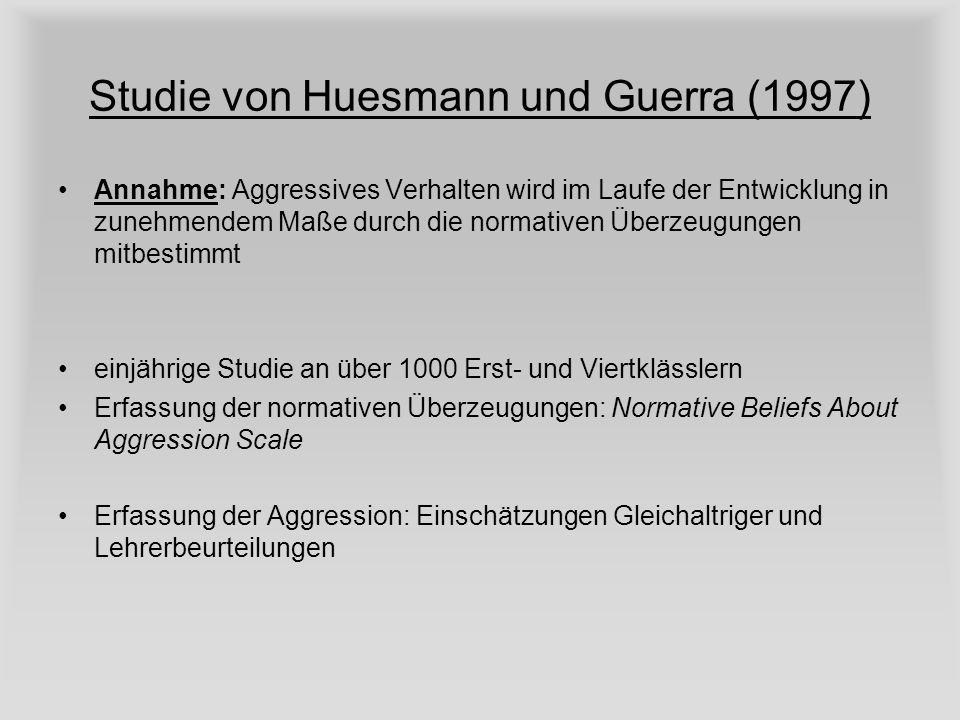 Studie von Huesmann und Guerra (1997)
