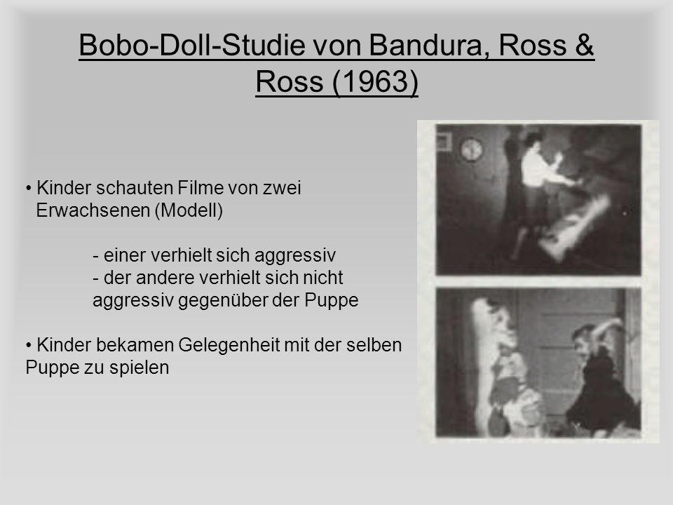 Bobo-Doll-Studie von Bandura, Ross & Ross (1963)