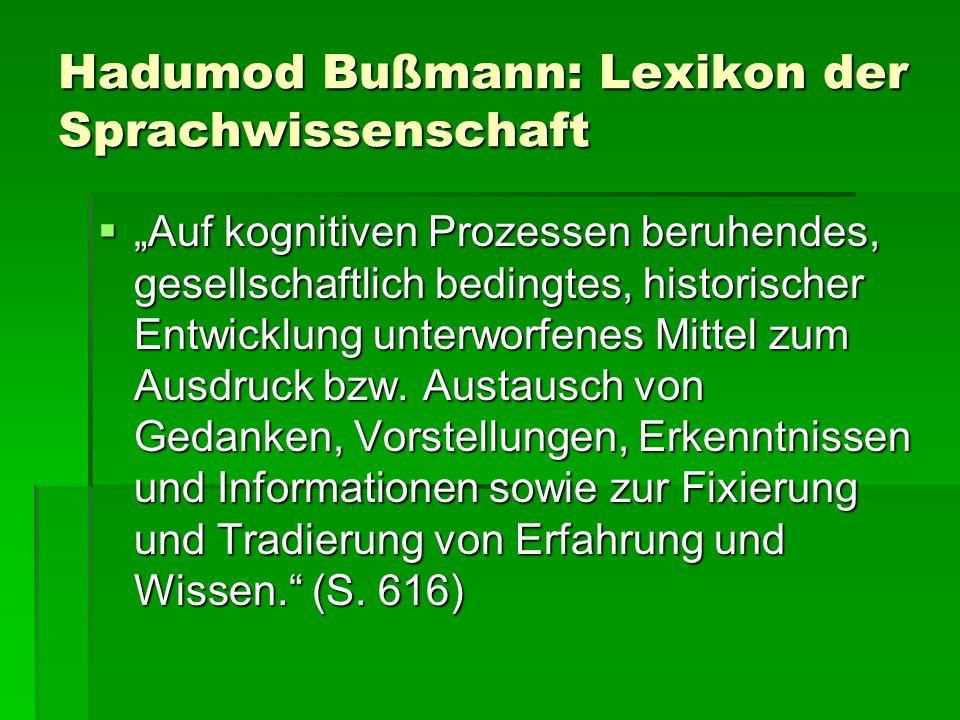 Hadumod Bußmann: Lexikon der Sprachwissenschaft