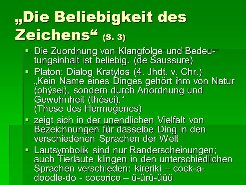 """""""Die Beliebigkeit des Zeichens (S. 3)"""