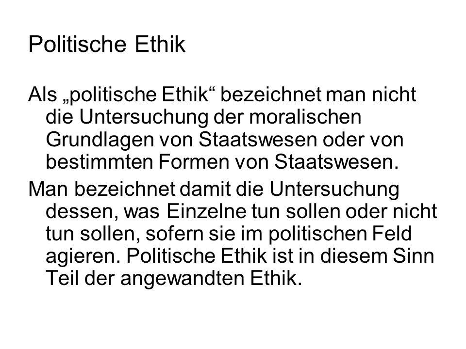 Politische Ethik
