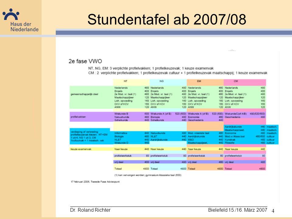 Stundentafel ab 2007/08