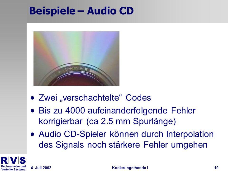 """Beispiele – Audio CD Zwei """"verschachtelte Codes"""