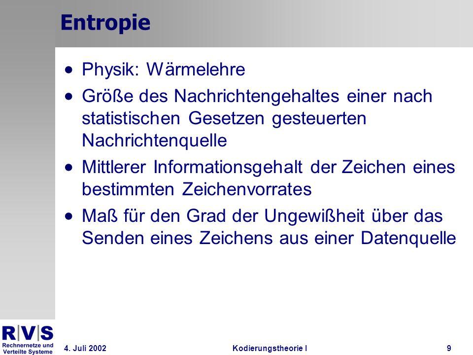 Entropie Physik: Wärmelehre