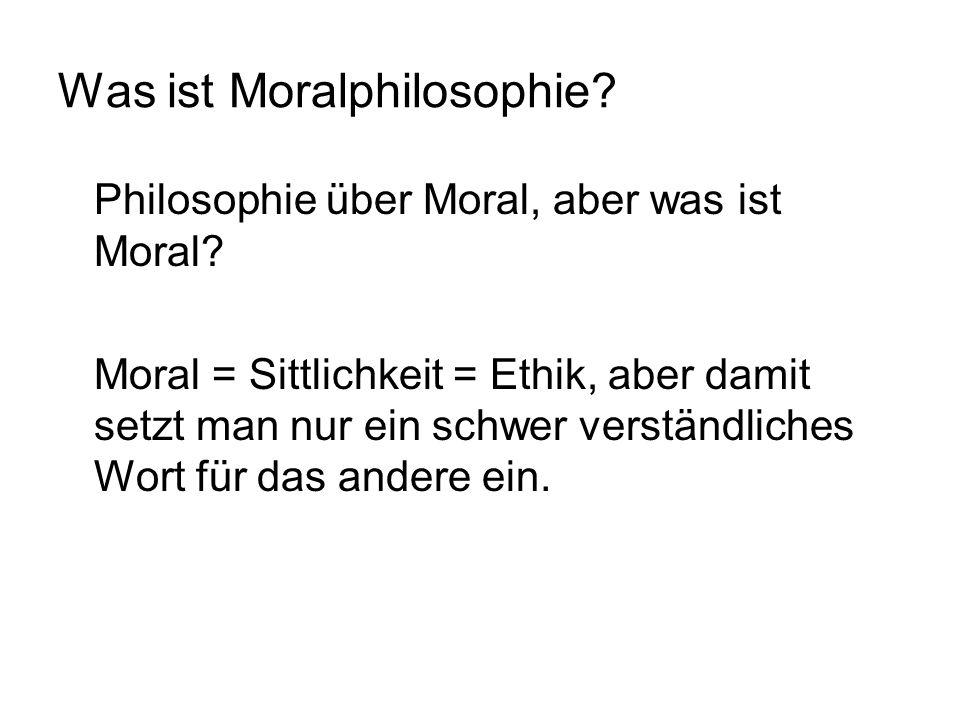 Was ist Moralphilosophie