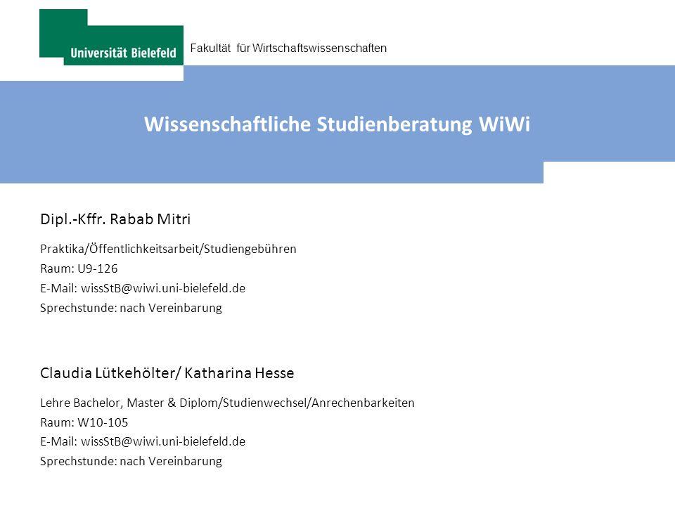 Wissenschaftliche Studienberatung WiWi