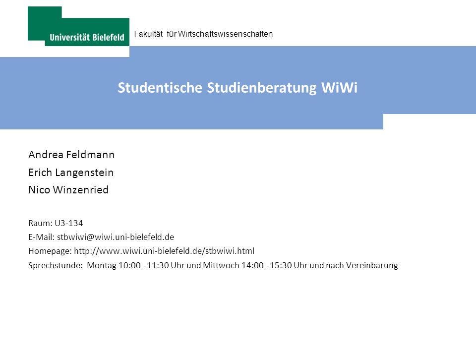 Studentische Studienberatung WiWi