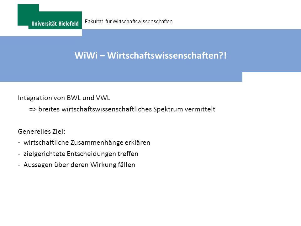 WiWi – Wirtschaftswissenschaften !