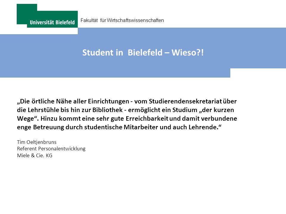 Student in Bielefeld – Wieso !
