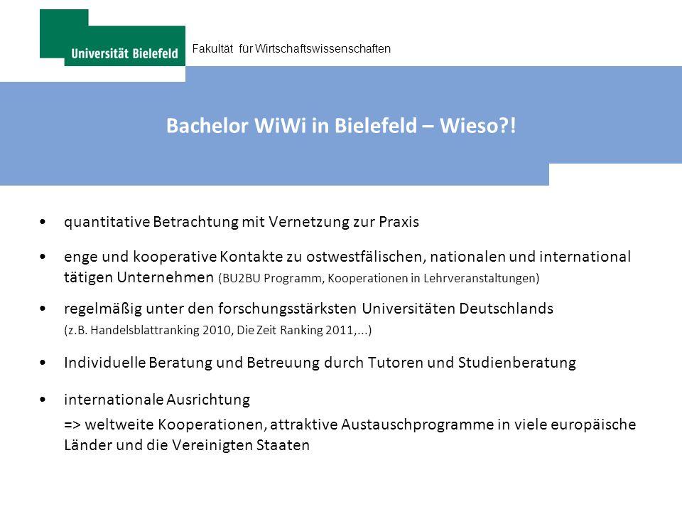 Bachelor WiWi in Bielefeld – Wieso !