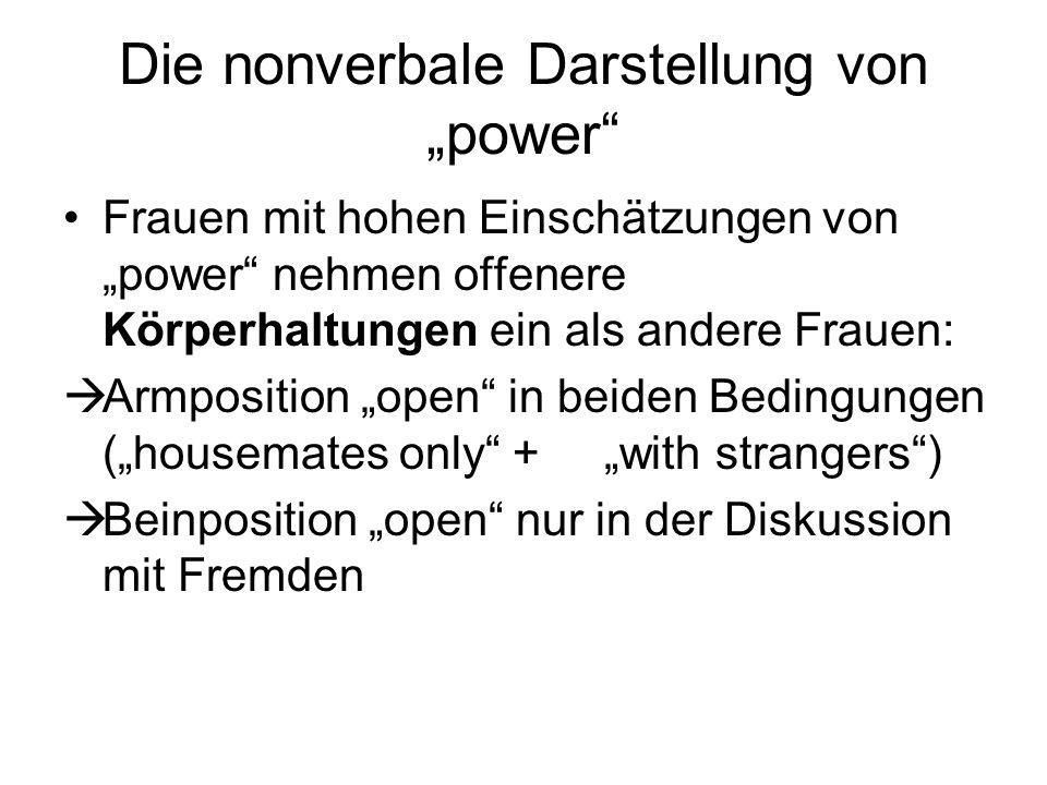 """Die nonverbale Darstellung von """"power"""