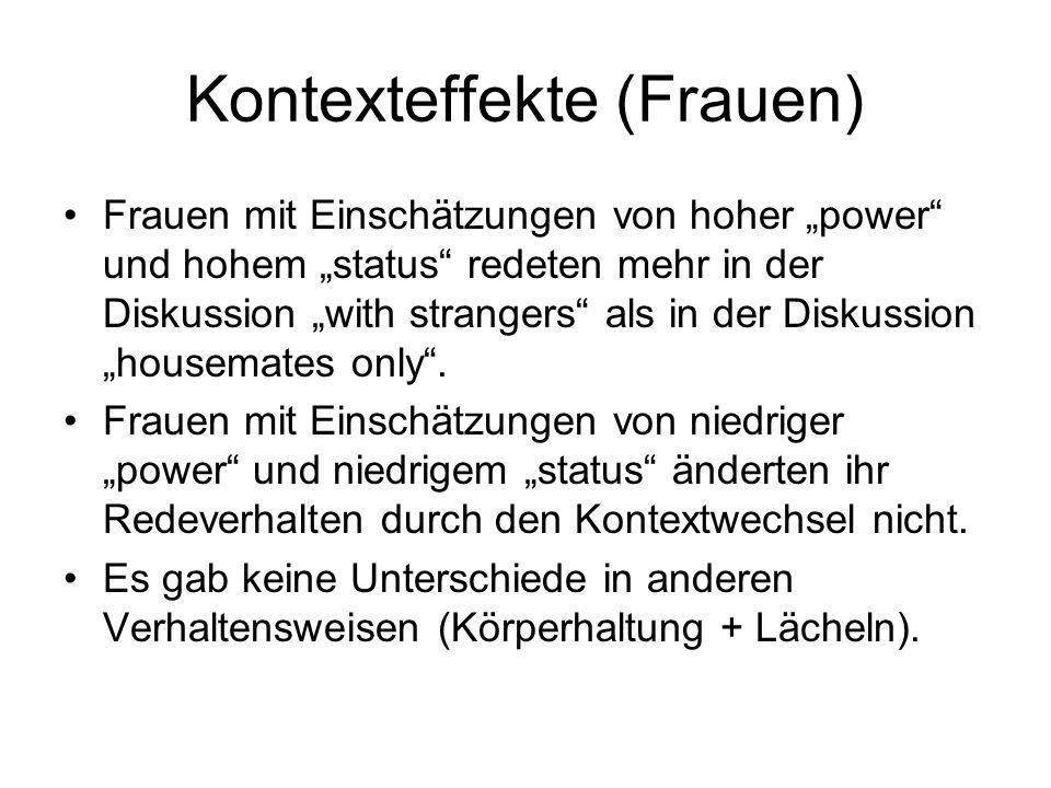 Kontexteffekte (Frauen)