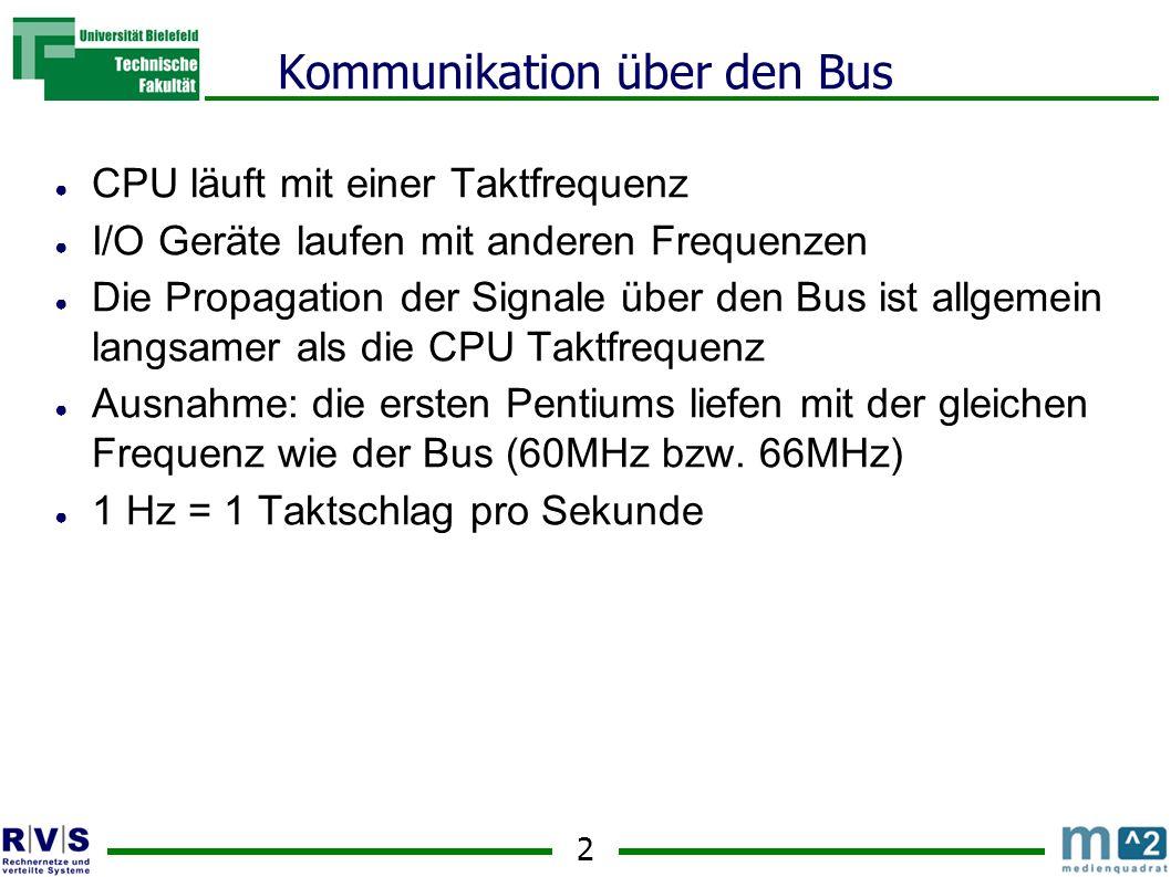 Kommunikation über den Bus