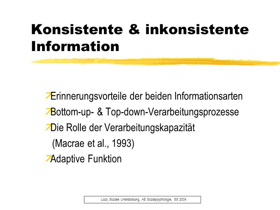 Konsistente & inkonsistente Information