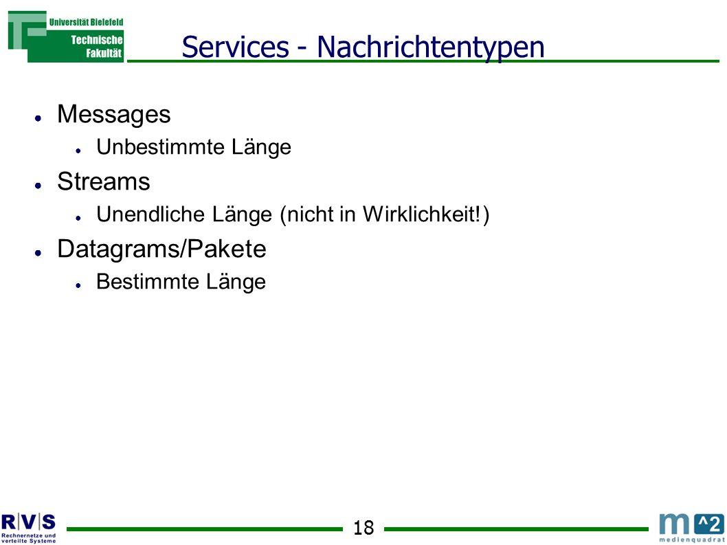 Services - Nachrichtentypen