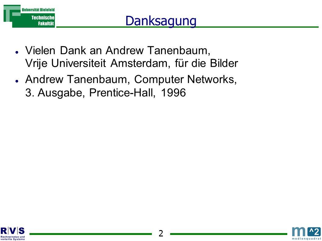 Danksagung Vielen Dank an Andrew Tanenbaum, Vrije Universiteit Amsterdam, für die Bilder.