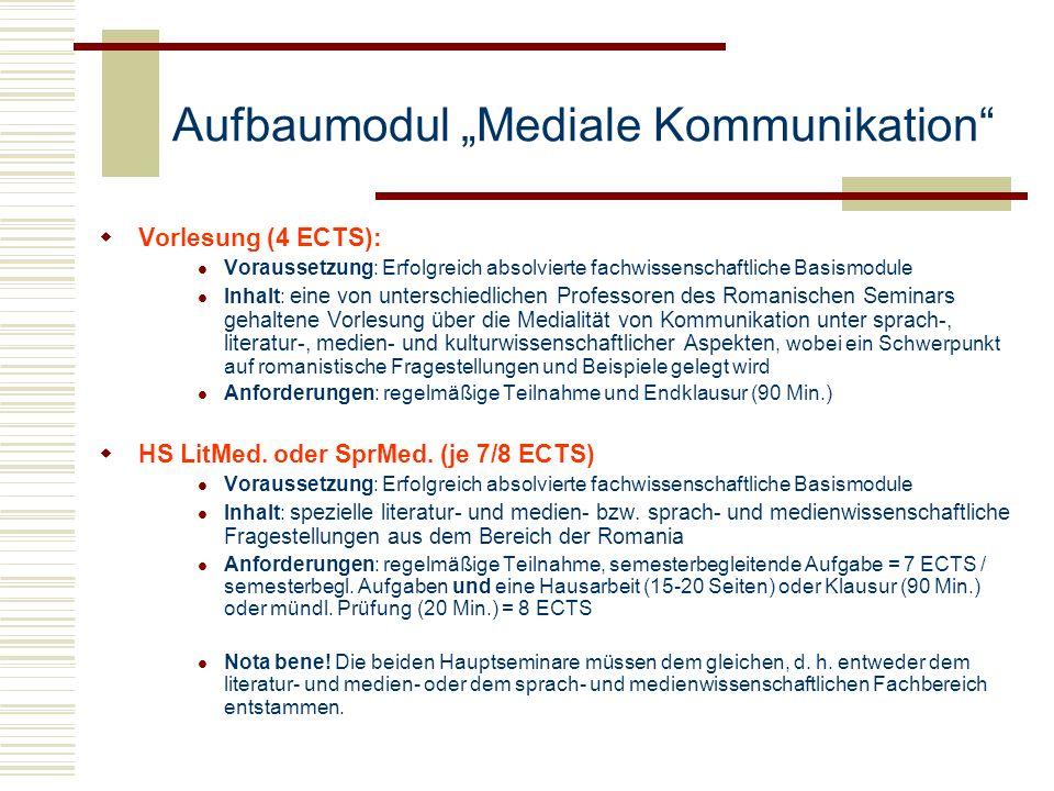 """Aufbaumodul """"Mediale Kommunikation"""