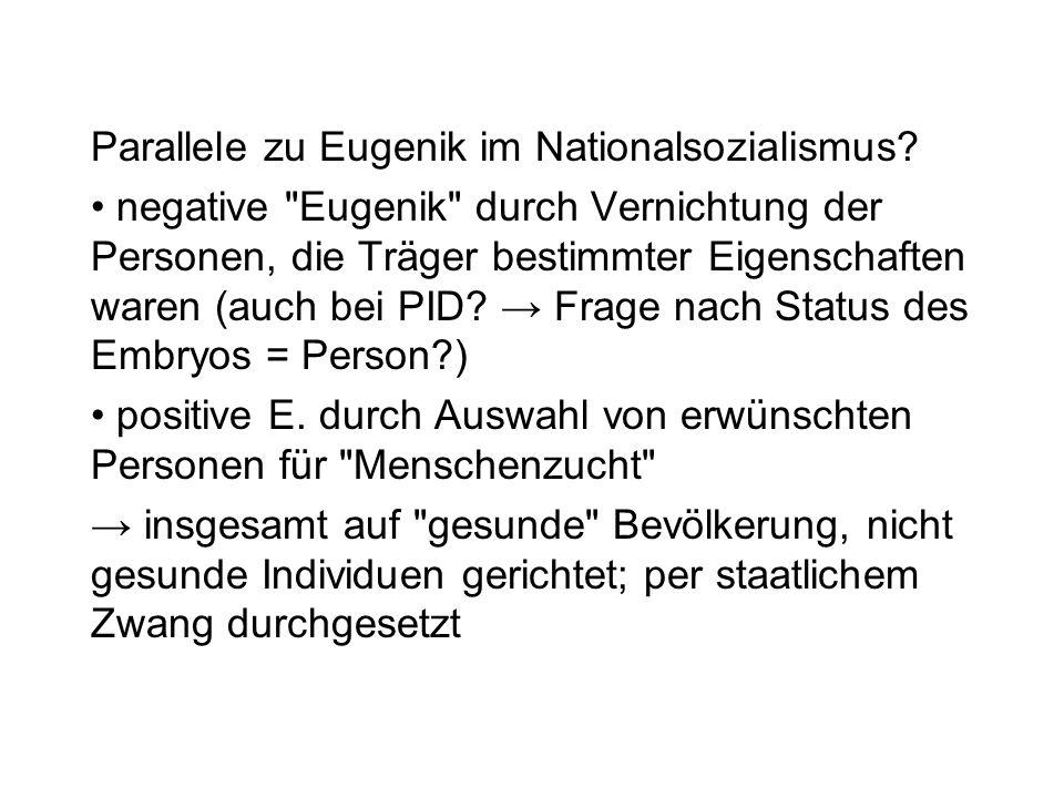 Parallele zu Eugenik im Nationalsozialismus