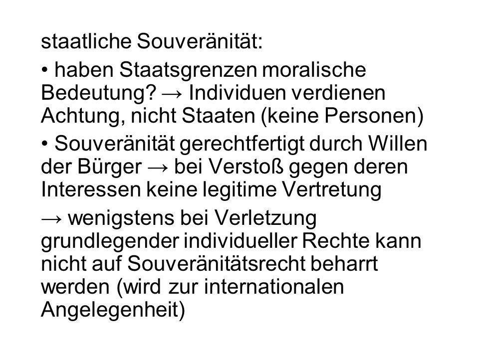 staatliche Souveränität: