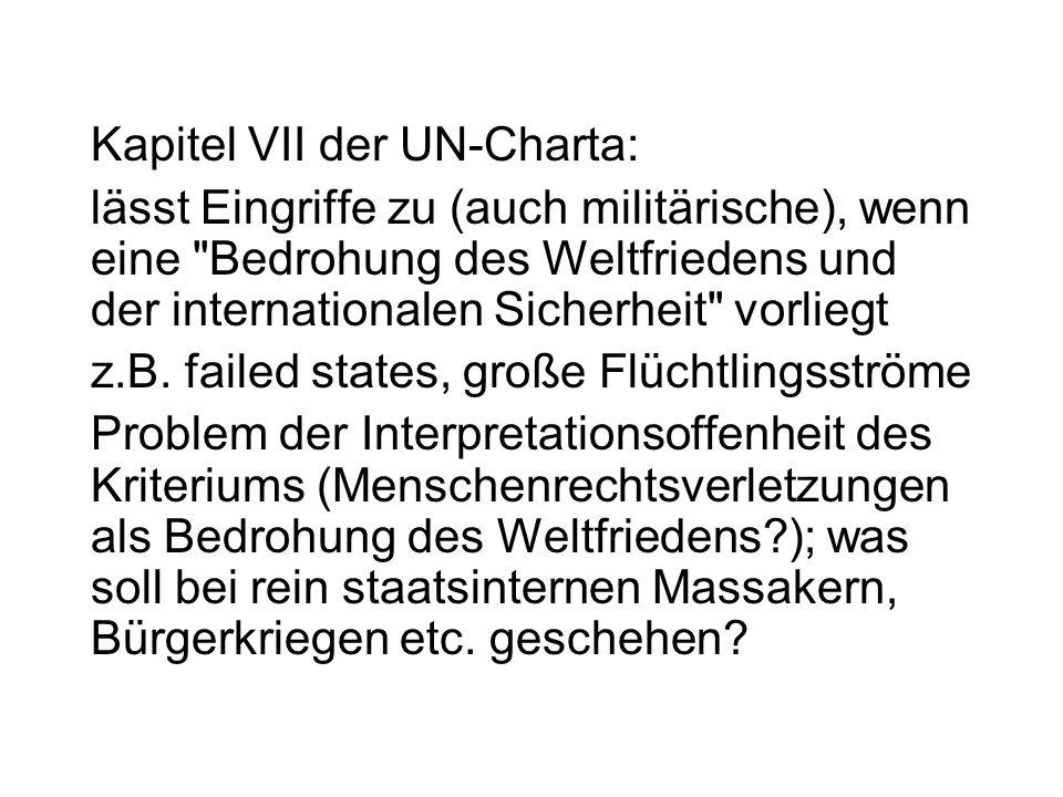 Kapitel VII der UN-Charta:
