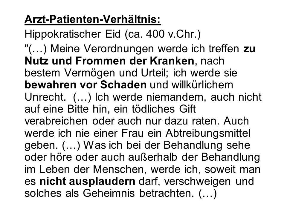 Arzt-Patienten-Verhältnis: