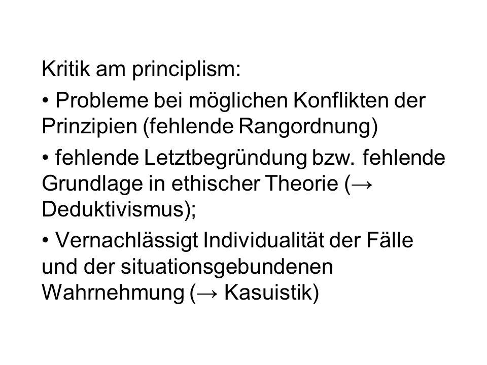 Kritik am principlism: