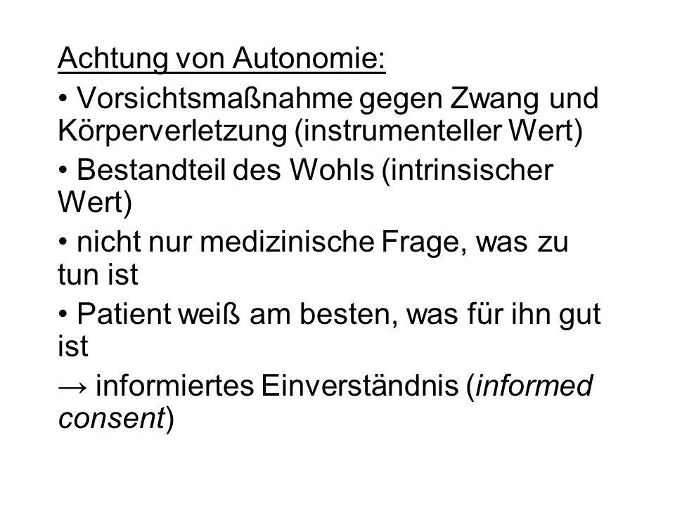 Achtung von Autonomie: