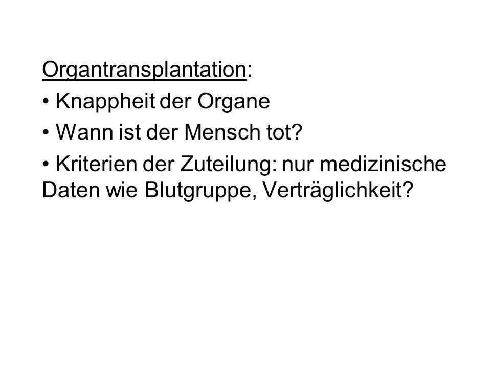 Organtransplantation: