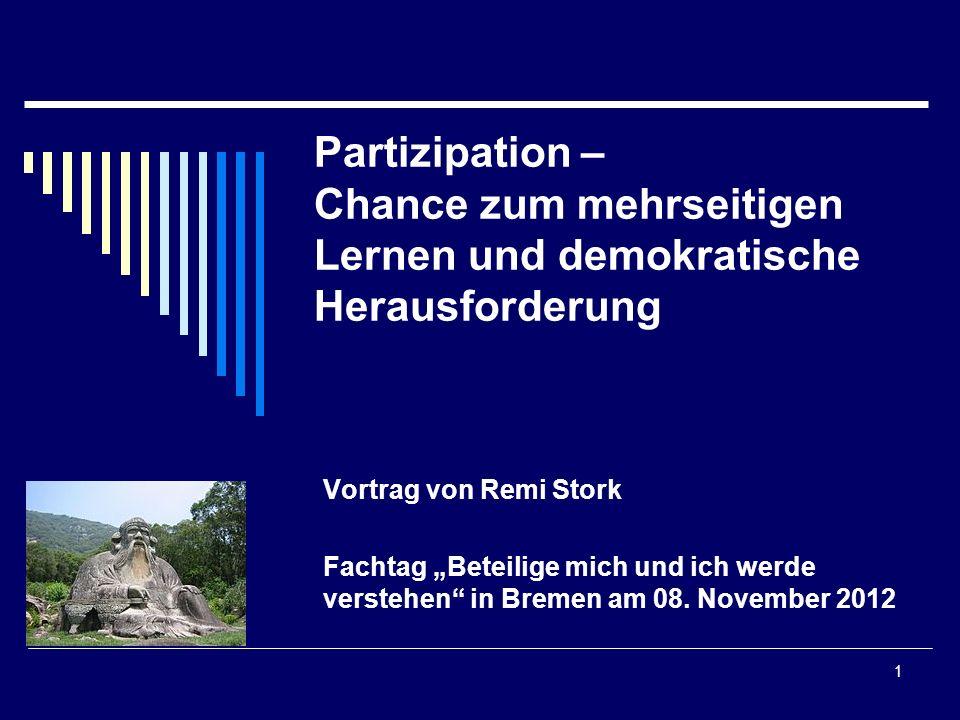 Partizipation – Chance zum mehrseitigen Lernen und demokratische Herausforderung
