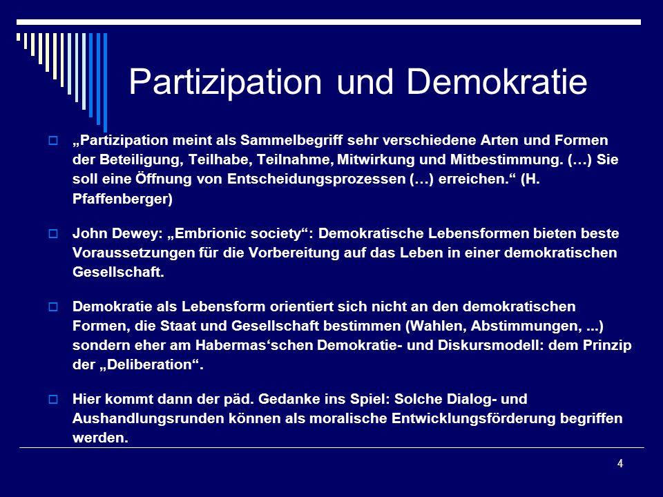 Partizipation und Demokratie