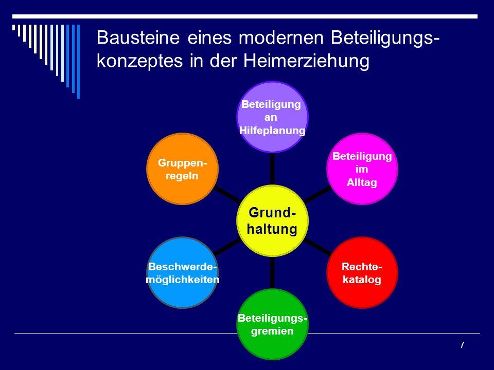 Bausteine eines modernen Beteiligungs-konzeptes in der Heimerziehung