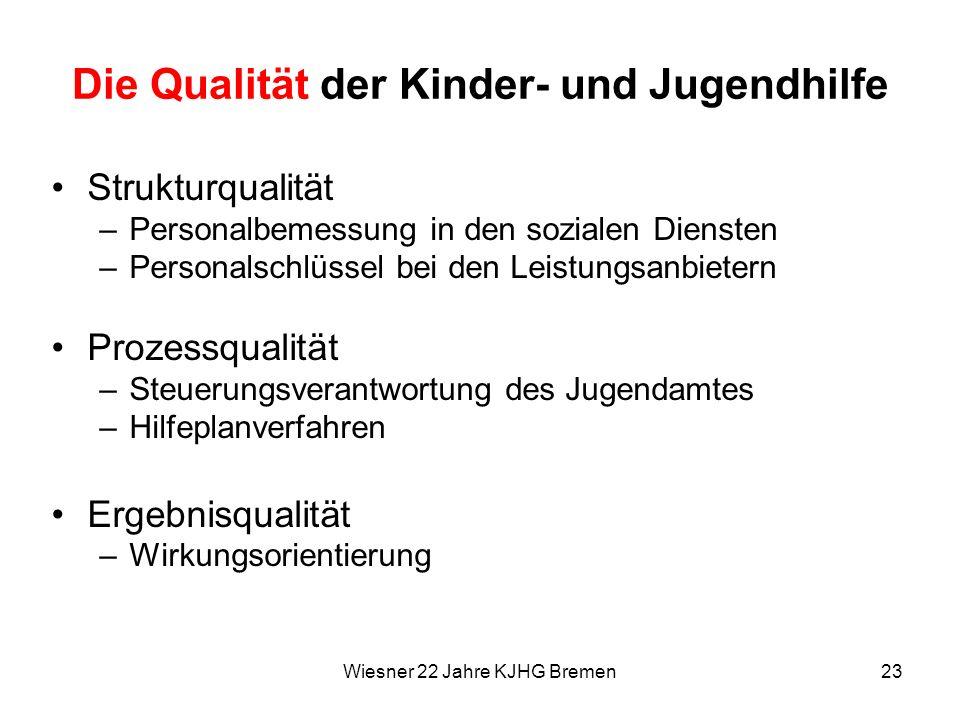 Die Qualität der Kinder- und Jugendhilfe