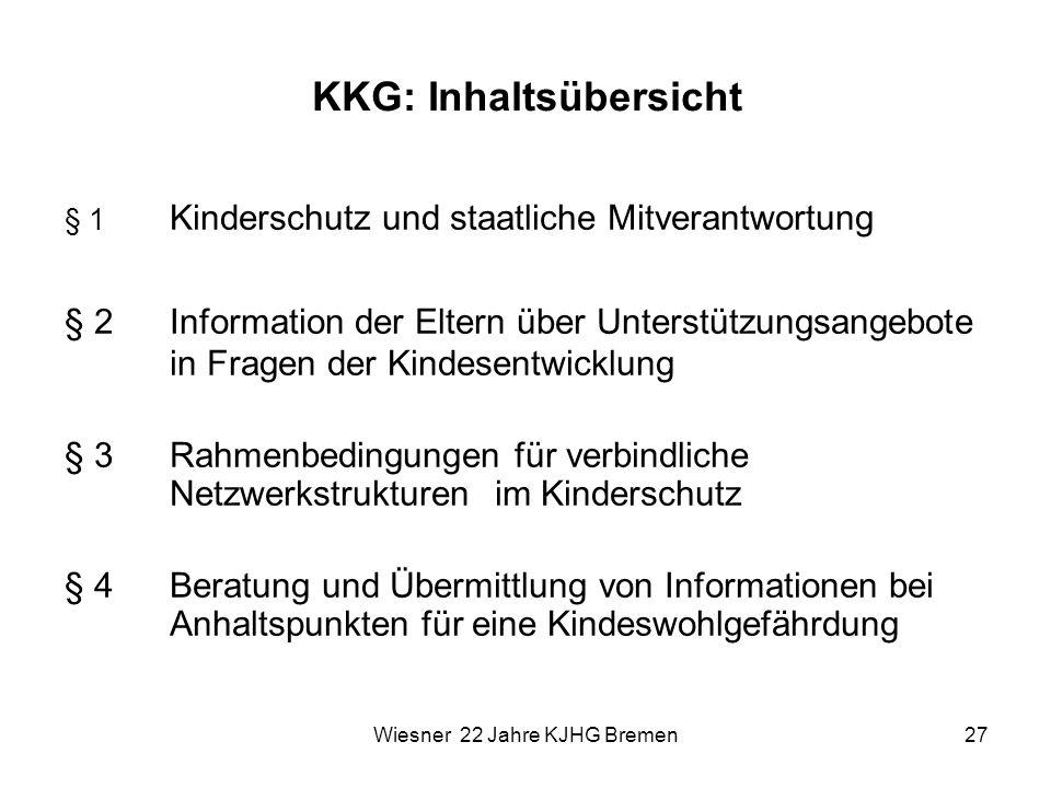 KKG: Inhaltsübersicht