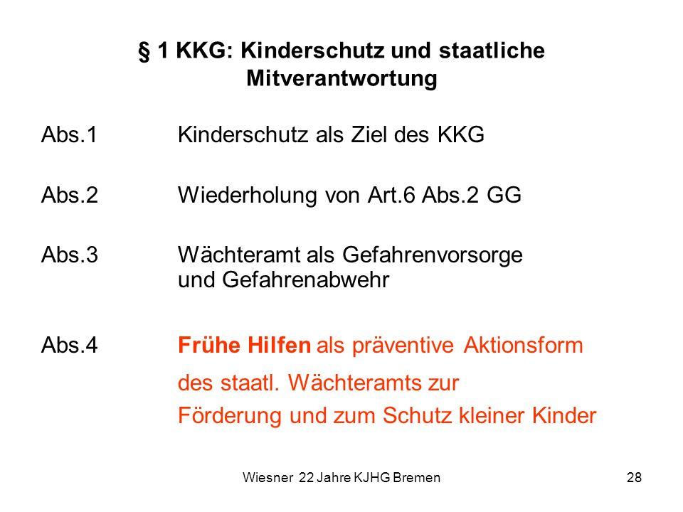§ 1 KKG: Kinderschutz und staatliche Mitverantwortung