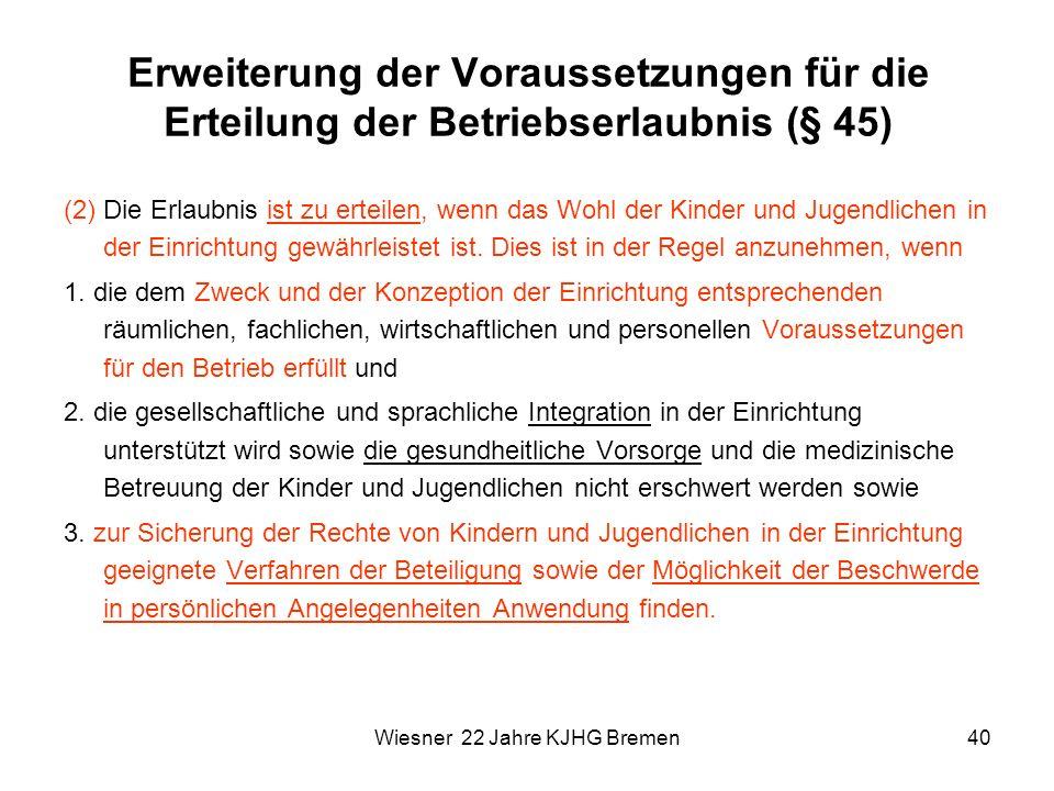 Wiesner 22 Jahre KJHG Bremen