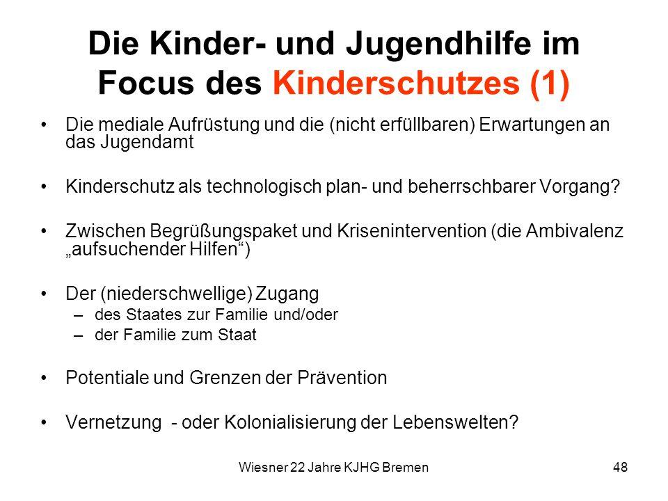Die Kinder- und Jugendhilfe im Focus des Kinderschutzes (1)