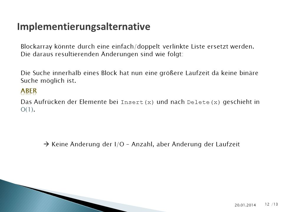 Implementierungsalternative