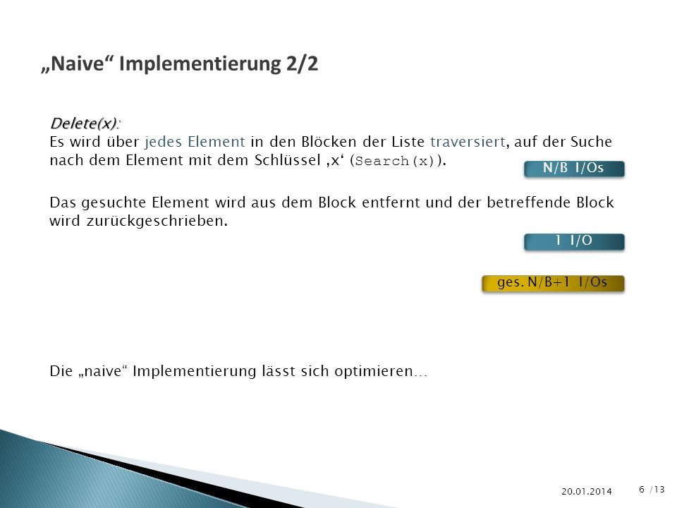 """Naive Implementierung 2/2"