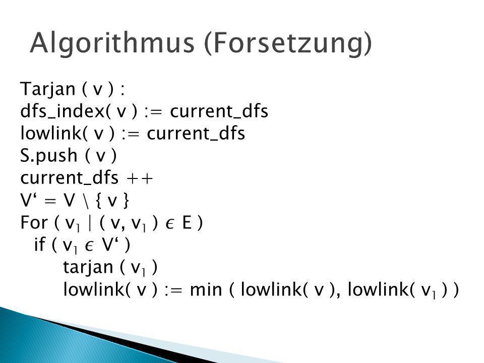Algorithmus (Forsetzung)