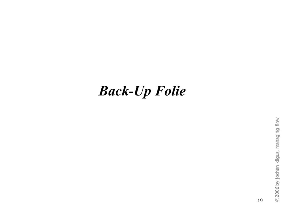 Back-Up Folie